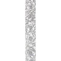 Бордюр Brina 40*7 вертикальный серый