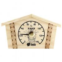 Термометр для бани и сауны ИЗБУШКА 23*12,5*2,5см
