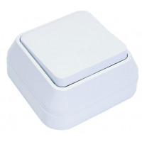Выключатель 1кл MAKEL накладной проходной белый 45105
