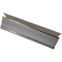 Плинтус потолочный 3,0м 8мм серебро Люкс