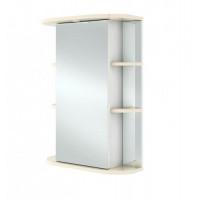 Зеркало шкаф 55см IKA Гиро правый ваниль