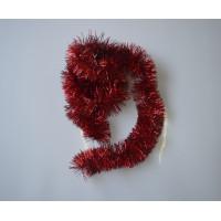 Мишура новогодняя красная 9*200см 16512
