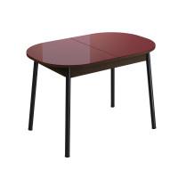 Стол обеденный раздвижной Енисей (1,1*0,7*0,75) Эмаль Венге темный