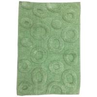 """Коврик для ванной """"Круги"""", зелёный 50*80см"""
