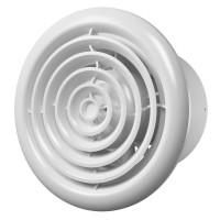 Вентилятор осевой канальный вытяжной с круглой решеткой