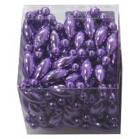 Бусы елочные, фиолетовый, 4 м