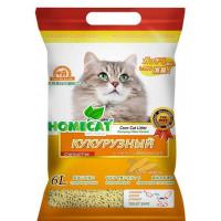 Наполнитель для кошачьего туалета Homecat, эколайн кукурузный,