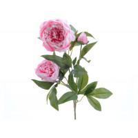 Цветок искусственный Decoris «Роза», 75 см, розовая