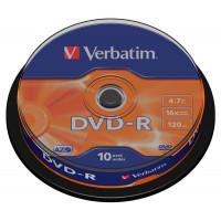 Диск DVD R Verbatim, 4.7 Гб, 16x,