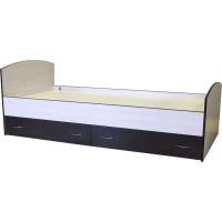 Кровать с ящиками «Мелодия», беленый