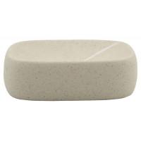 Мыльница Sealane Stone, керамика, бежевый, 11.5х8.5х3.5 см