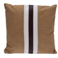 Декоративная подушка, 40х40 см, коричневая