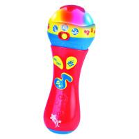 Микрофон с музыкой ONE TWO FUN красный