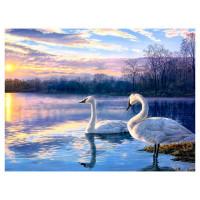 Картина по номерам Лебеди Color