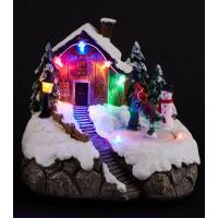 Фигурка декоративная «Светящийся дом» LED, 17,5х15,5х15,5 см