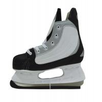 Коньки хоккейные, черно белые, размер 33