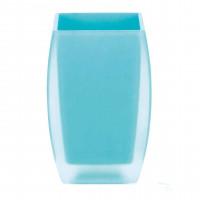 Стакан Spirella Freddo, полистирол, голубой, 6,5х6х10 см