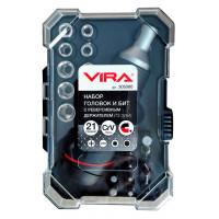 Набор головок и бит Vira с реверсивной