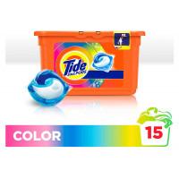 Капсулы для стирки 3в1 «Color» Tide, 15шт