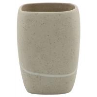 Стакан Sealane Stone, керамика, бежевый, 7х7х9.5 см
