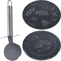 Доска разделочная с ножом для пиццы, 30x30