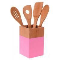 Набор кухонных принадлежностей, розовый, 5 предметов