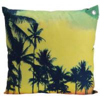 Декоративная подушка «Пальмы», 45х45 см, желтая