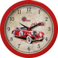 Часы настенные «Автомобиль», красные