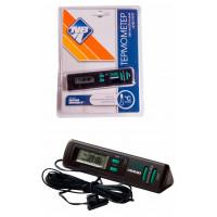 Термометр автомобильный цифровой с часами и подсветкой