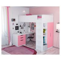 Кровать чердак Polini kids Simple, с письменным