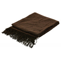 Плед, 125х150 см, коричневый
