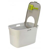 Био туалет Moderna Top, бело серый