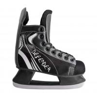 Коньки хоккейные, черные, размер 34