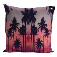 Декоративная подушка «Пальмы», 45х45 см, розовая