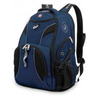 Рюкзак городской Wenger, 26 л, синий/черный, 34x17x47