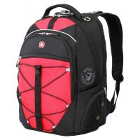 Рюкзак городской Wenger, 30 л, чёрный/красный, 34x19x46