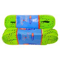 Шнурки с пропиткой,  лайм, 244см