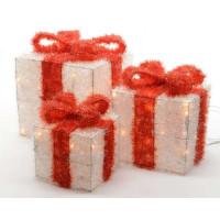 Набор светящихся фигур Kaemingk «Подарочные коробки»,