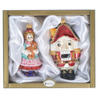 Набор ёлочных стеклянных игрушек Irena «Щелкунчик»,