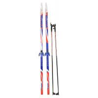 Лыжи с креплением 75мм Sprinter, 185см + палки