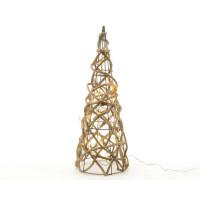 Светящаяся фигура «Пирамида», 16ламп, теплый белый, 40см