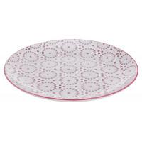 Тарелка обденная, красная, 28 см