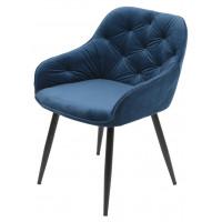 Бархатный стул, синий