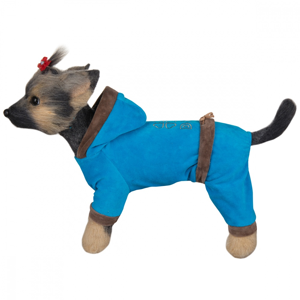 Комбинезон для собак Dogmoda Хоум-4 велюровый унисекс (цвета в ассортименте) 32см