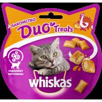 Лакомство для кошек Whiskas Duo индейка,
