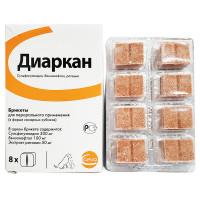 Препарат для кошек и собак CEVA Диаркан сахарные
