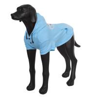 Толстовка для собак RUKKA Summer college 40см голубая