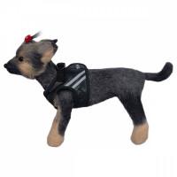 Шлейка жилет светоотражающая для собак Dogmoda