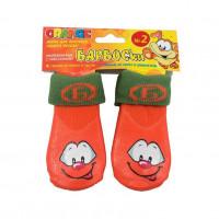 Носки для собак БАРБОСКИ высокое латексное покрытие, оранжевые