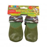 Носки для собак БАРБОСКИ высокое латексное покрытие, зеленые
